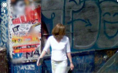 Étant donnée capture d'écran Google street view