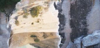 Éléna Salah Le Cretto, transfert photographique recto verso par gel médium, 30x40 cm © Éléna Salah