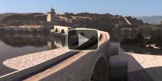 Film sur la reconstitution numérique de la traversée du Pont d'Avignon réalisé par Henry Poirier